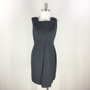 Elie Tahari S 4 6 Gray Wool Dress Drape Sleeveless